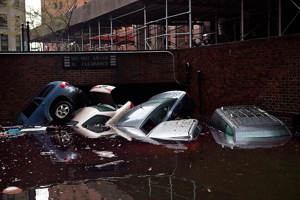 flooded cars