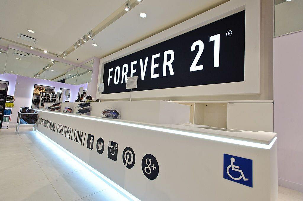 General atmosphere of the new Forever 21 store on South State Street on August 8, 2014 in Chicago, Illinois