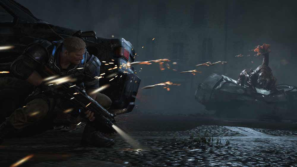 Taking cover in 'Gears of War 4'