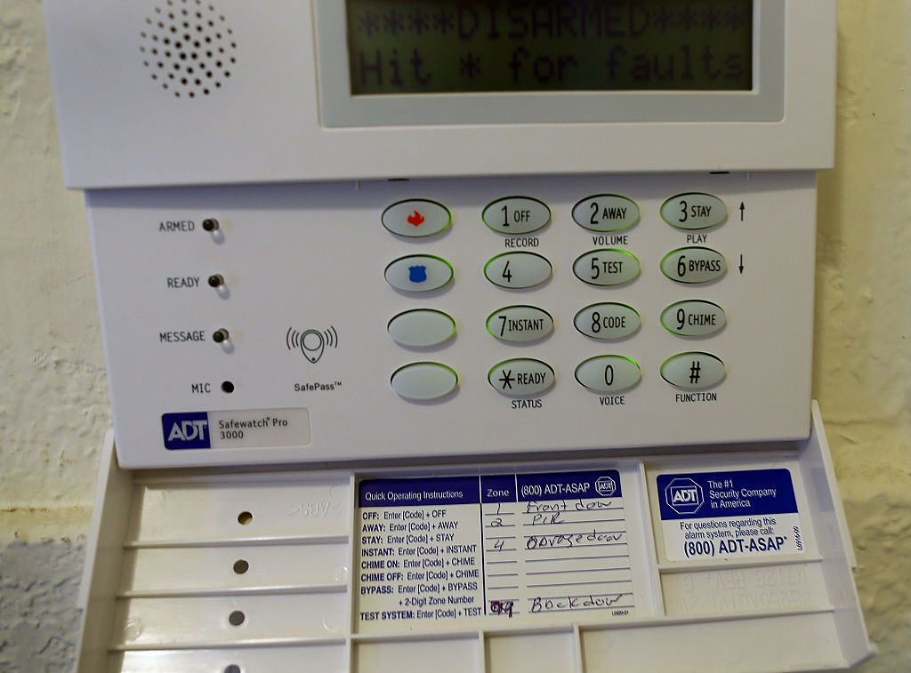 home security system keypad