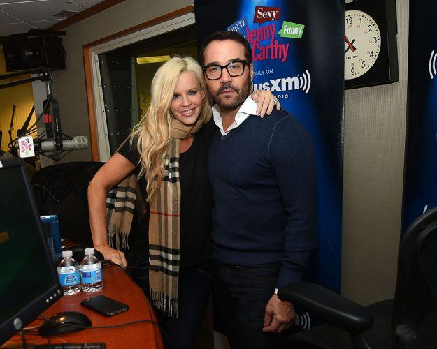 Jenny McCarthy and Jeremy Piven at a SiriusXM show