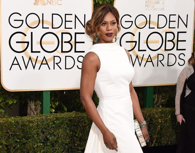 Laverne Cox at the Golden Globes