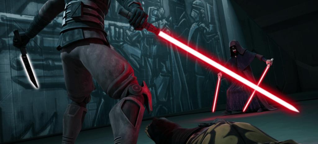 Darth Maul and Palpatine in Star Wars: The Clone Wars