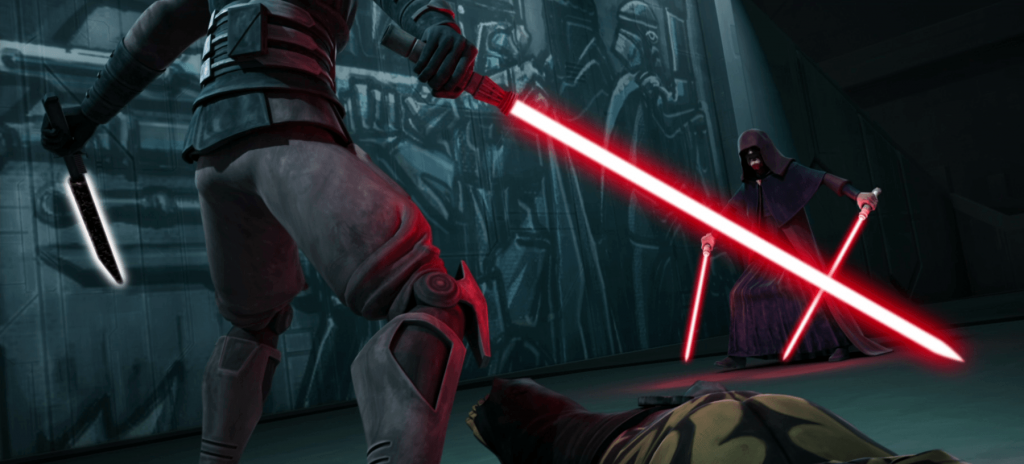 Darth Maul and Palpatine in Star Wars: The Clone Wars