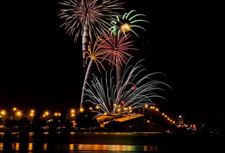 Fireworks over Melbourne, Florida