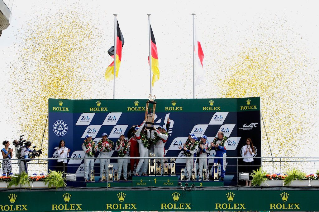 Podium at 2014 24 Hours of Le Mans   Audi