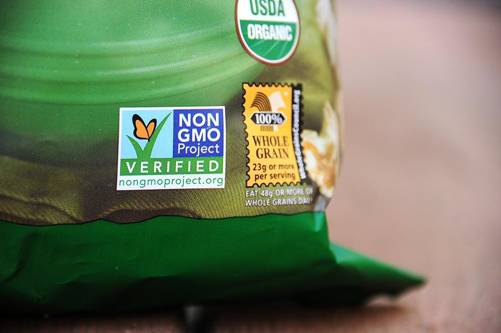 Labels disclosing GMOs aren't mandatory