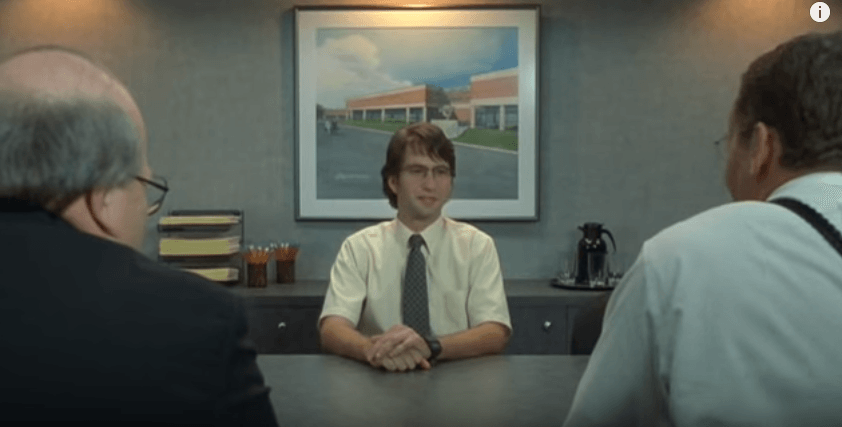 Job interview from Office Space