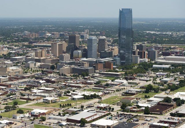 oklahoma city from the sky