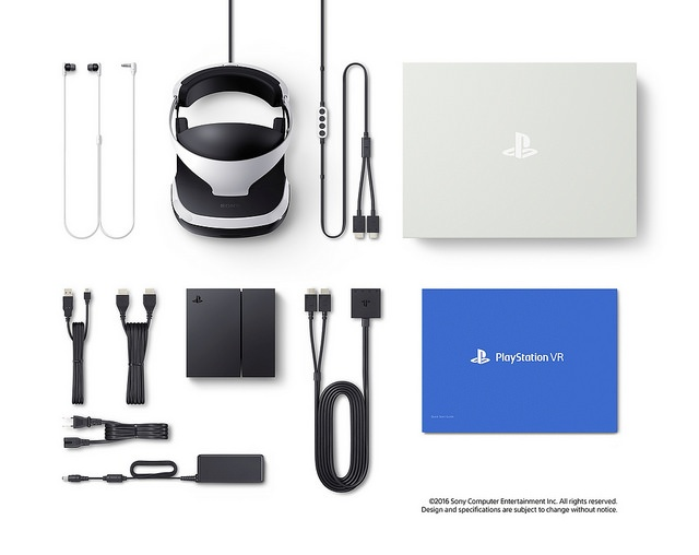 Everything that comes in the PlayStation VR box