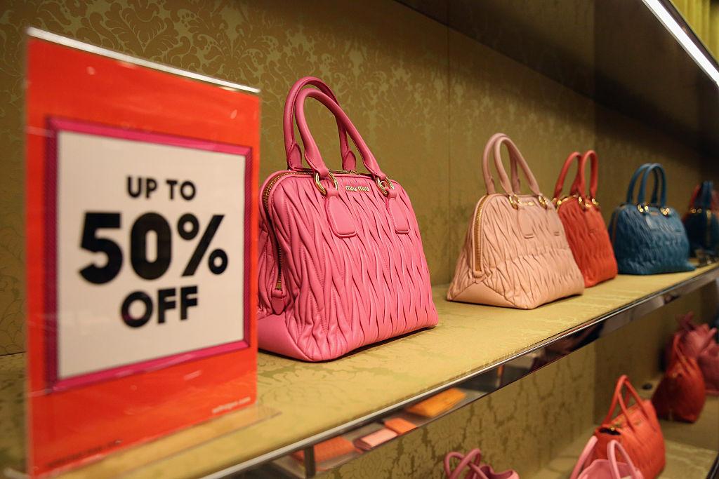 handbags on shelf