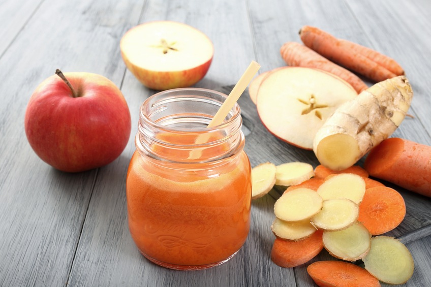 fresh smoothie with carrot apple