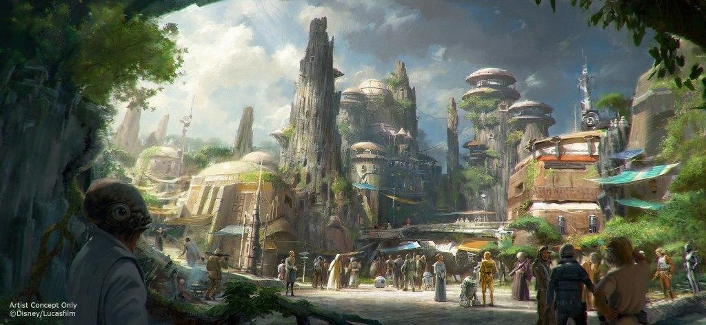 Star Wars Land concept art - DIsneyland