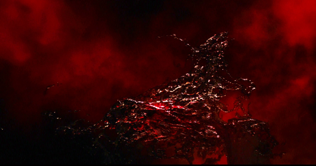 The Aether, a red flowing liquid in a red void