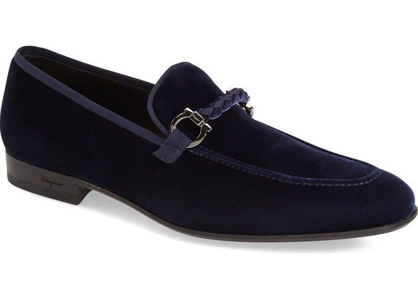 men's velvet loafer