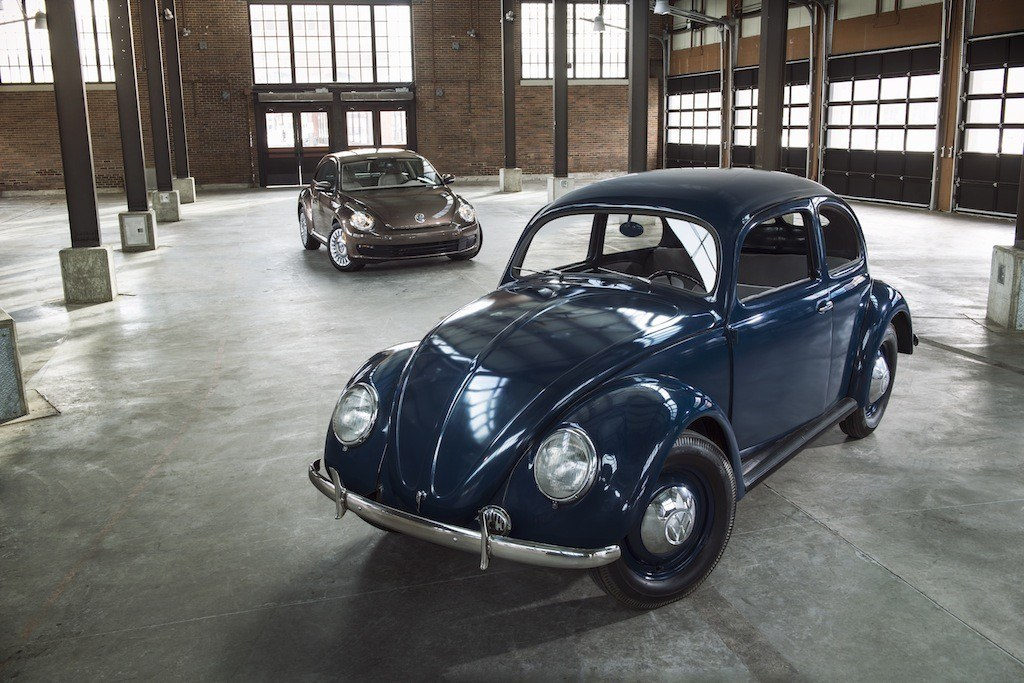 1951 and 2015 Volkswagen Beetles