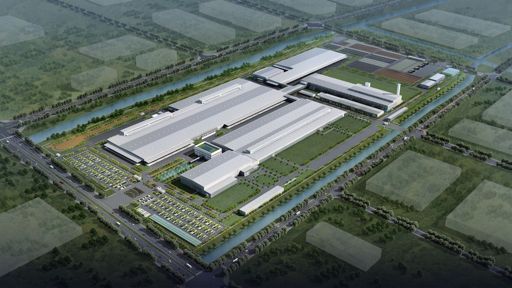 Manufacturing plant in Luqiao, artist impression | Volvo