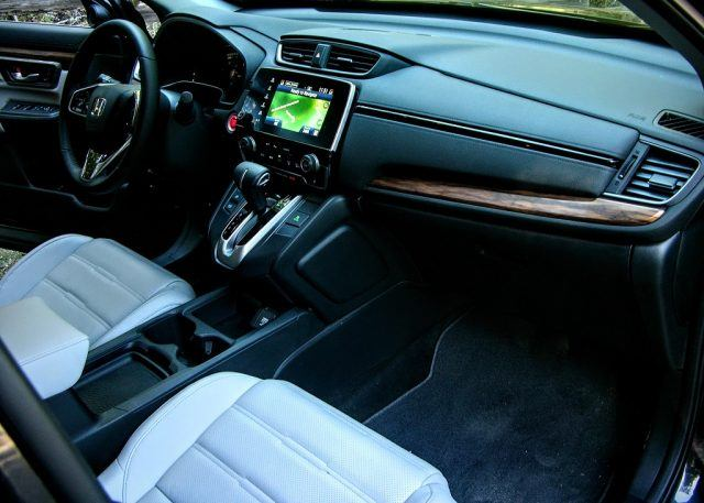 Leather seats and center console storage