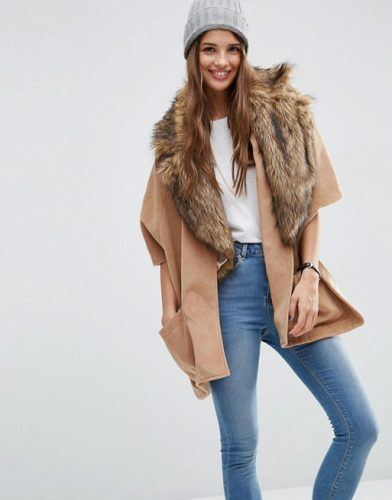 cape, outerwear, faux fur