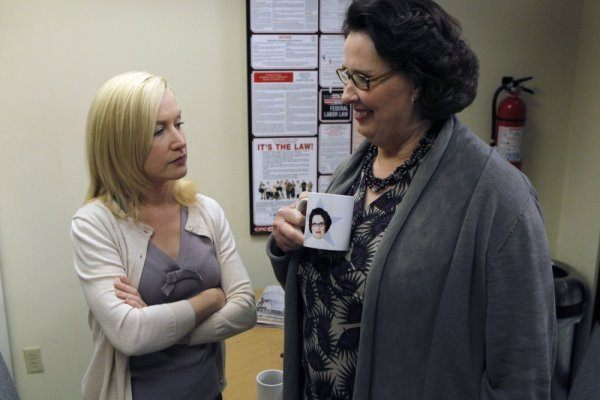 Angela and Phyllis in The Office