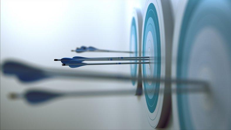3d scene representing arrows