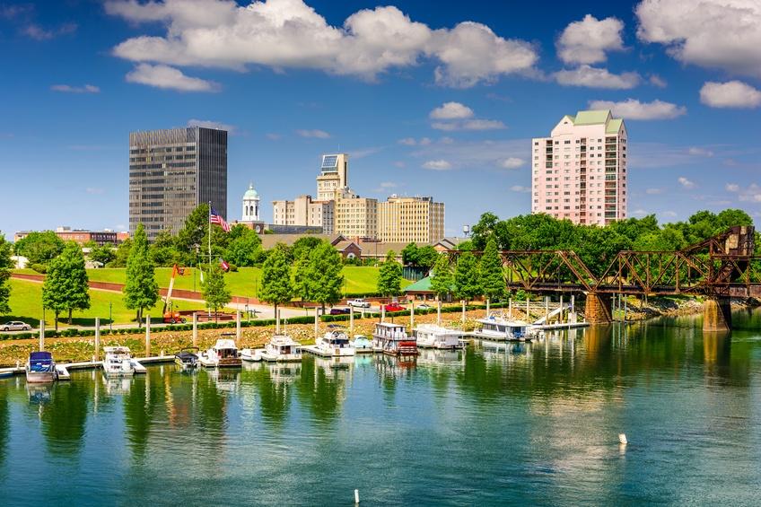 Augusta, Georgia, USA Downtown Skyline