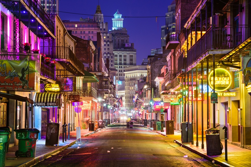 A view of New Orleans, Louisiana at night