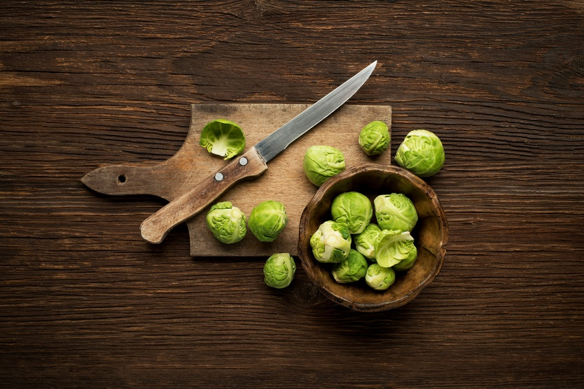 Fresh raw Brussels sprouts
