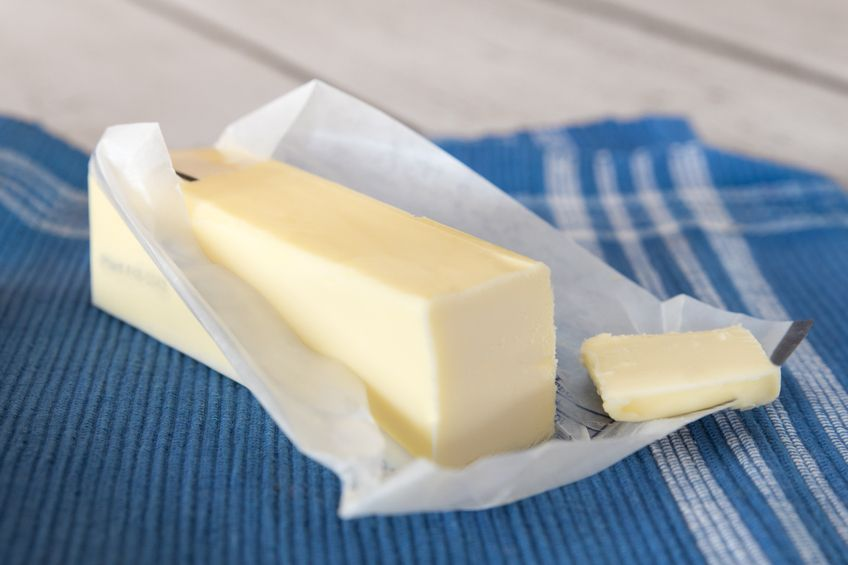 Stick of unwrapped butter