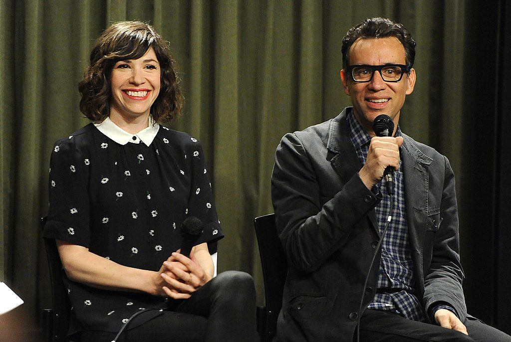 riter/actor Carrie Brownstein and actor/producer Fred Armisen attend Sag Foundation's Conversations with Portlandia's Fred Armisen and Carrie Brownstein held at SAG Foundation Actors Center
