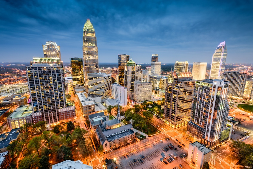 A view of downtown Charlotte, North Carolina