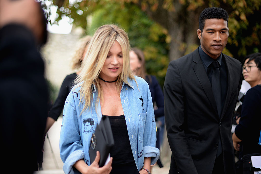 Kate Moss attends the Christian Dior show as part of the Paris Fashion Week