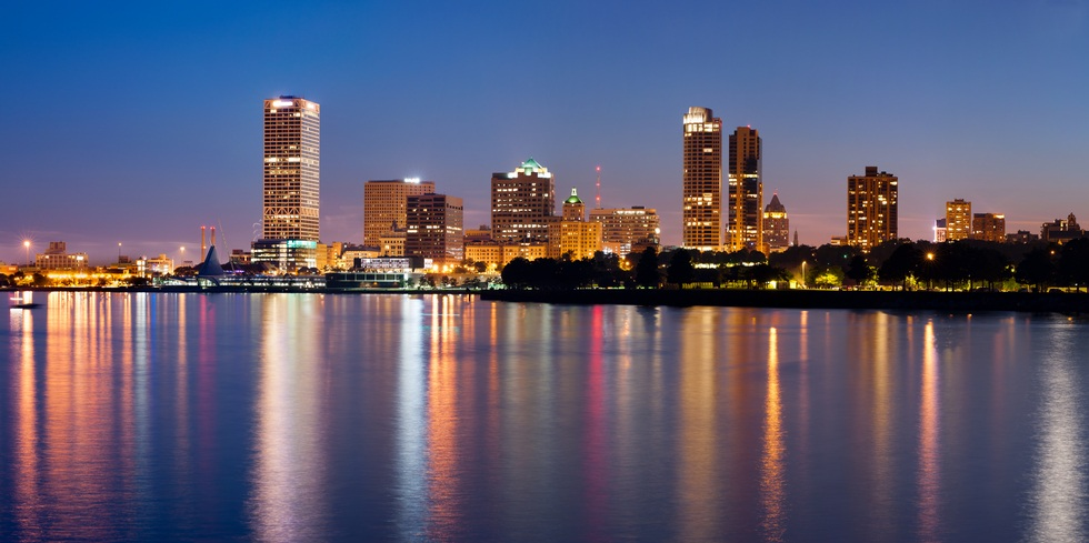 City of Milwaukee from the lake