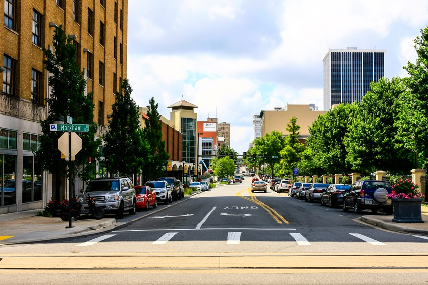 street in Little Rock, Arkansas