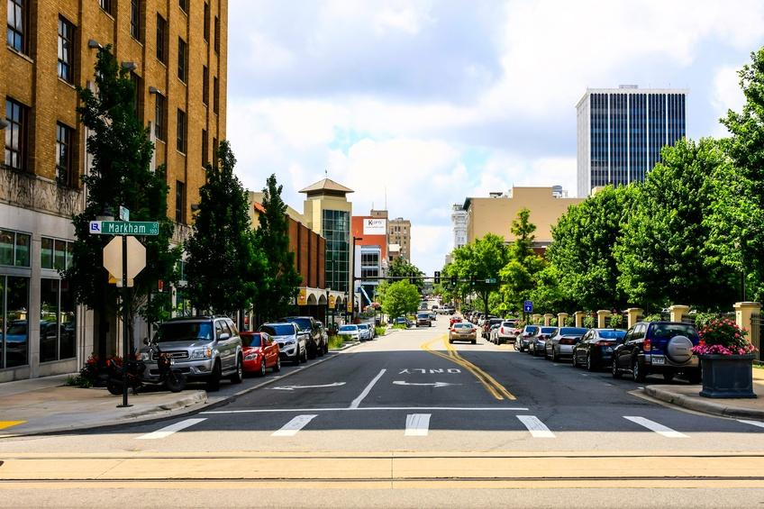 street in Little Rock, Arkansas