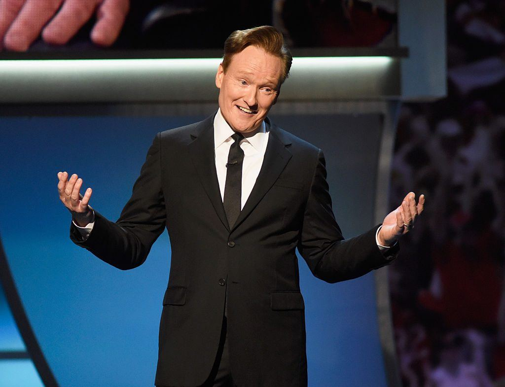 Host Conan O'Brien speaks onstage during the 5th Annual NFL Honors at Bill Graham Civic Auditorium on February 6, 2016 in San Francisco, California. (Photo by Tim Mosenfelder/Getty Images)