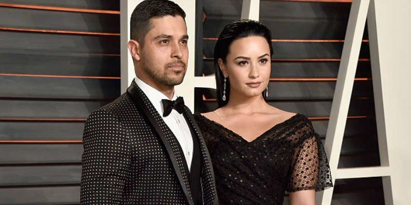 Demi Lovato and Wilmer Valderamma