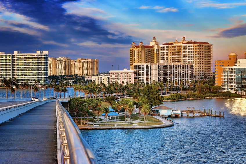 Downtown Sarasota from from the Ringling Bridge
