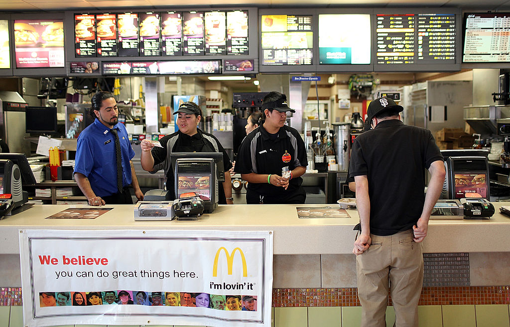 fast food workers at McDonald's
