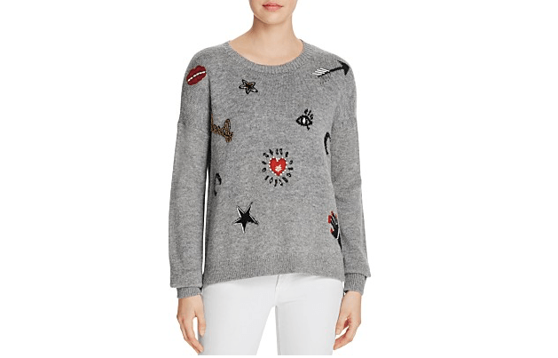 French Connection embellished sweater