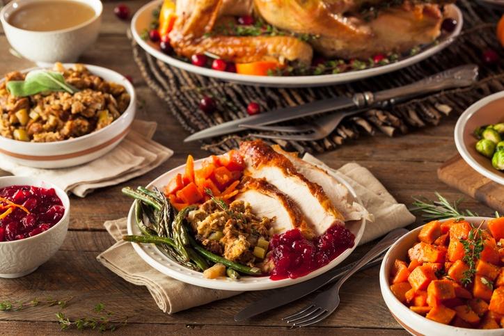 Turkey Stuffing Veggies and Potatos