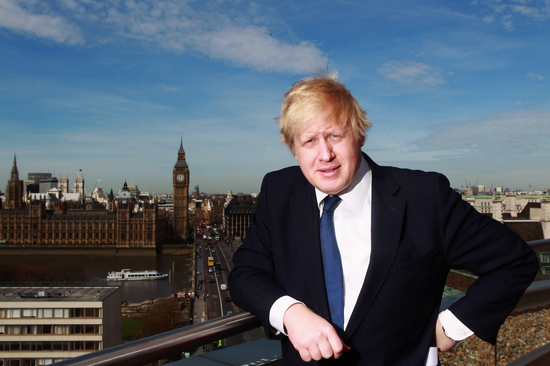 Boris Johnson poses for a photo