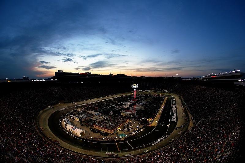 A view of Bristol Motor Speedway in Bristol, Tennessee