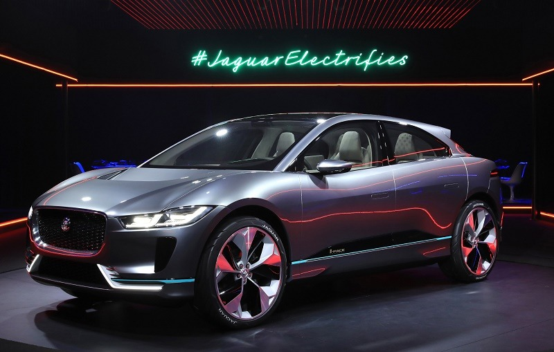 LOS ANGELES, CA - NOVEMBER 14: Jaguar's I-PACE Concept at Milk Studios on November 14, 2016 in Los Angeles, California.