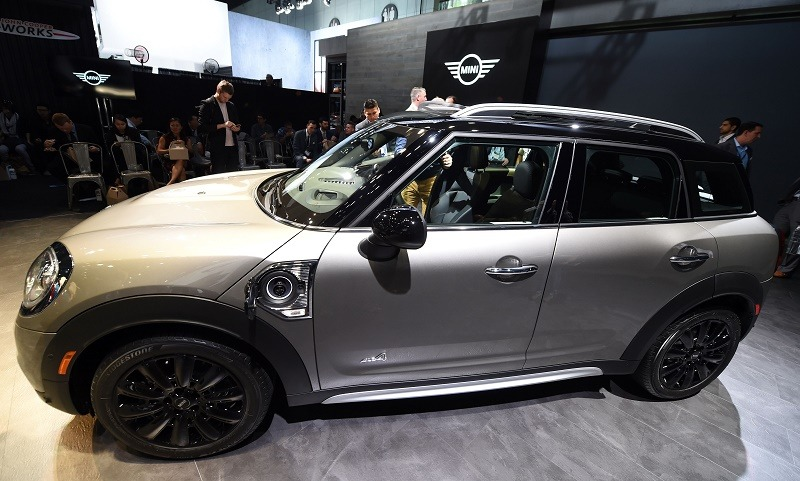 The plug-in hybrid 2017 Mini Cooper Countryman SE all-wheel drive is displayed during the BMW AG Mini press conference at the 2016 Los Angeles Auto Show in Los Angeles, California, U.S November 16, 2016. The LA Auto Show is open to the public from November 18 through November 27.
