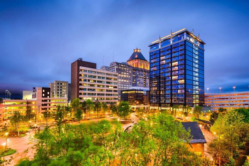 A view of downtown Greensboro, North Carolina