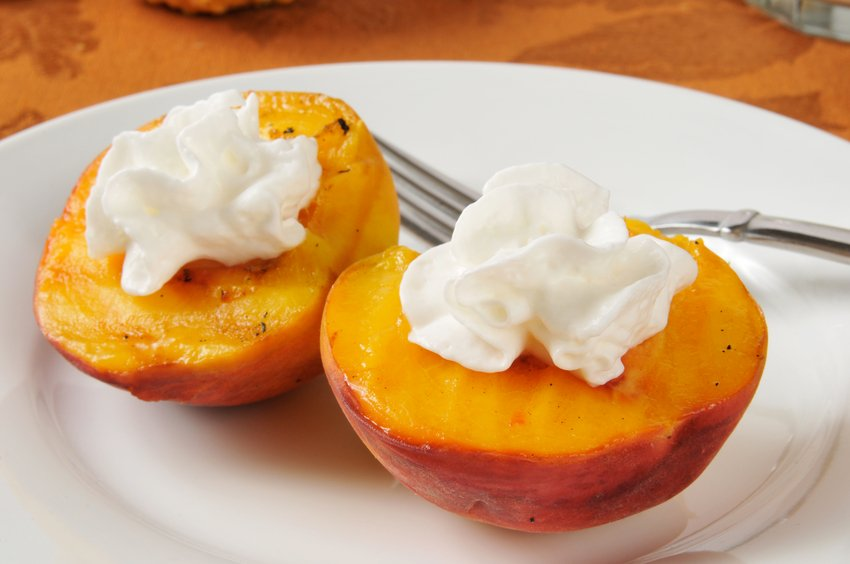 apricot halves with whipped cream