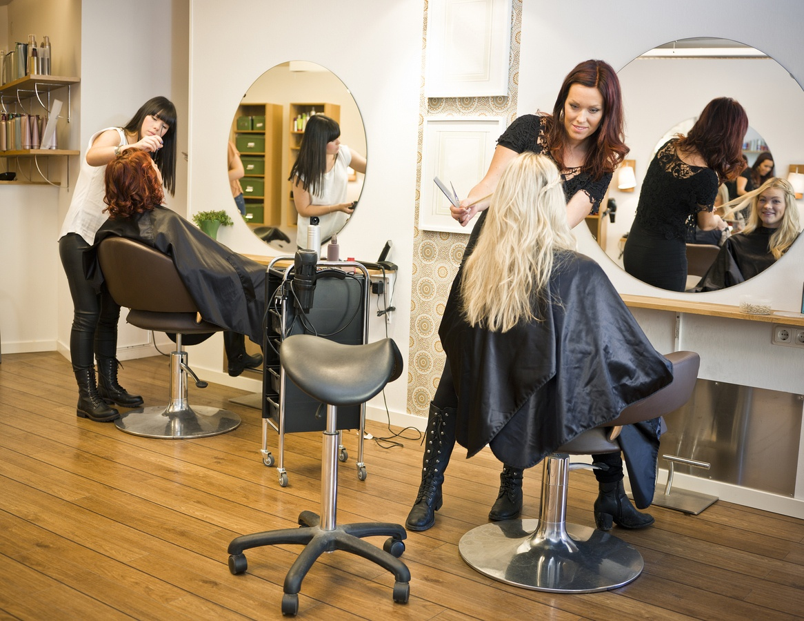 women in hair salon