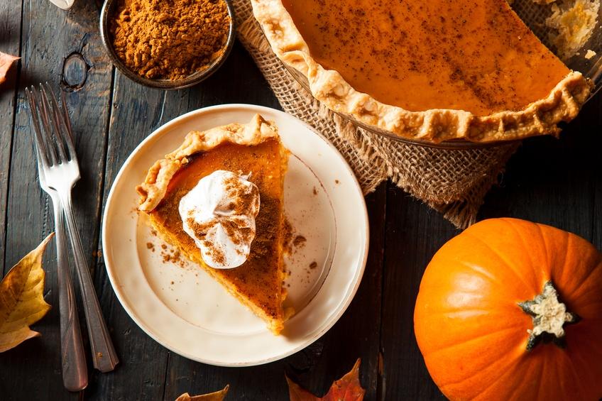 Homemade pumpkin Pie for Thanksgiving