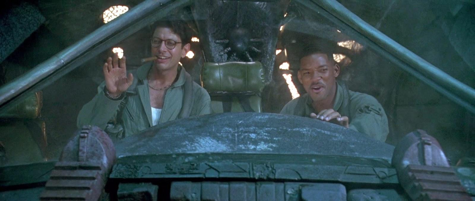 Heroes from the movie Independence Day preparing to complete their mission and head home